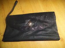 black evening clutch bag