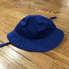 NWT Hanna Andersson blue sun hat with straps XS 3-12 mths