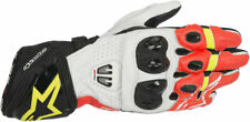 ALPINESTARS 2017 GP PRO R2 Leather Racing/Riding Gloves (Blk/Wht/Red/Yellow) Med