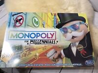 NEW Monopoly for Millennials Board Game HASBRO Millenials Sealed Holiday Gift