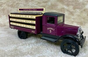 Jim Beam Decanter Collectors of District 5 Stake Truck Purple 1of 500