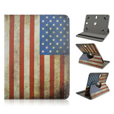 "Fits Creative ZIIO 7"" inch Tablet USA U.S Flag Folding Case Cover Rotating Stand"