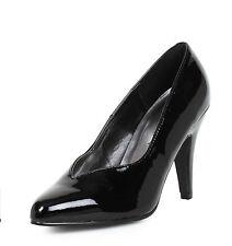 Black Wide Width Pumps Crossdresser Drag Queen Womans Large Size Shoes 12 13 14