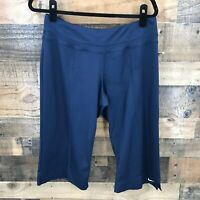 Nike Dri-fit Women's Navy Cropped Work Out Warm Ups Size Large