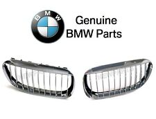 BMW E63 E64 645Ci 650i M6 Pair Set of Front Left & Right Chrome Grille Genuine
