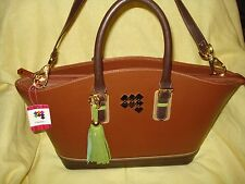 CLAUDIA G. GENUINE LEATHER BROWN WEEKENDER LARGE BAG AUTHENTIC GORGEOUS SALE