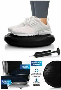 Balance Disc Stability Wobble Cushion Lumbar Support Desk Office (Pump Included)
