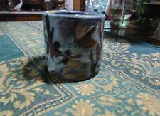 JT Abernathy Artisan Pottery -  Ceramic Pot  Mid Century Michigan - Signed