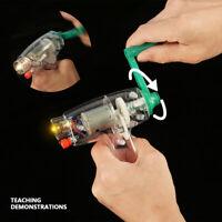 Generatore manuale a manovella in miniatura per l'insegnamento della fisica di