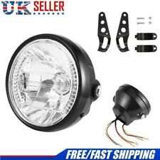 7 inch Motorcycle/Bike Headlight LED Turn Signal Light Black Bracket Mount Round
