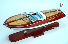 "Riva Ariston 20""- Handmade Wooden Classic Boat Model High Quality"