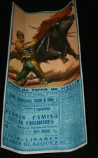 CARTEL CORRIDA TOROS PEDRES CAMINO Y EL CORDOBES, TININ LINARES, HELLIN 1965, 6º