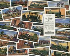 "BROWNE TEA 1964 SET OF 25 ""HISTORY OF THE RAILWAY"" 1ST SERIES TEA CARDS"