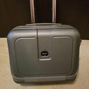 Delsey Paris Travel Luggage Under Seater Adjustable Handle 2 Wheels Dark Silver
