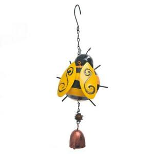 Cute Cartoon Ladybug Garden Bells Wind Chimes for Outside Decoration Soothing