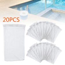 20xFor Basket Swimming Pool Filter Replacement Savers Skimmer Socks Pack Tool UK