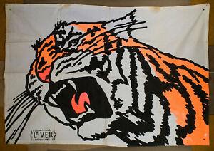 original art, UV backdrop, wall art, tiger art, fairground art, funky painting,