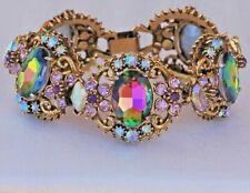 Florenza Watermelon Heliotrope Rhinestone Bracelet Vintage Jewelry Jewelry