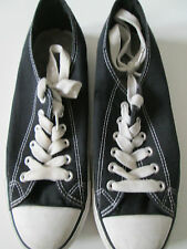 ATMOSPHERE - BLACK Textile Lace Up Trainers Shoes Size 6