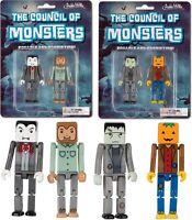 Council Of Monsters Cube Figure Set Dracula Frankenstein Werewolf Jack O Lantern