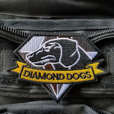 METAL GEAR SOLID 5:MGS 5 DIAMOND DOGS Badge Embroidered Hook Patch Brown Tan