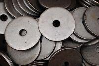 "(20) Plain Steel 1/2 x 3 Heavy Dock Washer 1/4"" Thick - 3"" Diameter"