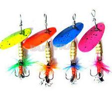 Lot 4pcs Fishing Spinner Spoon Baits Lures Fishing Swim Bait Lure Crankbaits WB