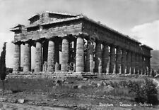 Cartolina Paestum Tempio a Nettuno 1955