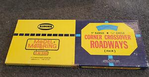 "New Aurora Model Motoring HO Scale Corner Crossover 9"" R  1-Pair No. 1513 NOS"