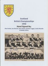 SCOTLAND 1956 INTERNATIONAL TEAM GROUP RARE ORIGINAL SIGNED 6 X AUTOGRAPHS