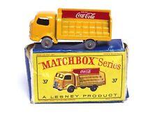 MATCHBOX Lesney No.37b karrier BANTAM CAMION COCA-COLA (Grande Posteriore Adesivo BIANCA GPW in buonissima condizione)