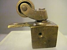 ANTIQUE STYLE SOLID METAL BRASS FINISHED SOLID FURNITURE TOE CASTER W/ WHEEL