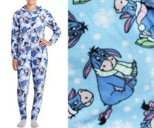 Disney's Eeyore Hooded Non Footed Pajamas Micro Fleece 1 PC S M L or XL NWT
