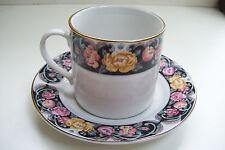 Vintage Rare Tiens Han Tienshan Tapestry Rose Pattern Cup & Saucer Set Y. S.
