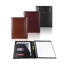 Italian Bonded Leather Business Padfolio Portfolio Organizer Folder 3 Colors