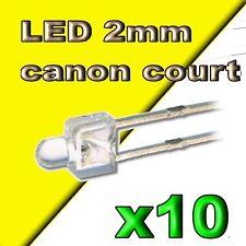 318/10# LED jaune 2mm canon court --- 10pcs