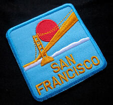 BLUE SAN FRANCISCO GOLDEN GATE Embroidered Iron on Patch Free Postage