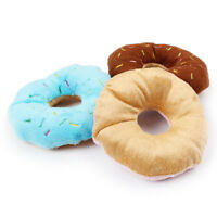 1 Pc Pet Dog Chew Toys Squeaker Funny Cute Donut Puppy Cat Plush Sound Throw Toy