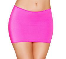 Hot Pink Lycra Classic Mini Skirt by Roma Costume O/S 8 10 12 uk Dancewear