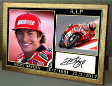 "Nicky Hayden Tribute  Framed Canvas Print Signed Limited Edition ""Great Gift"""