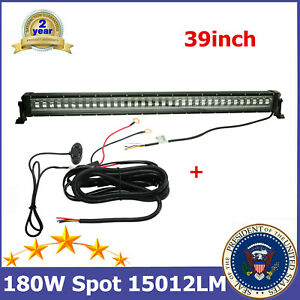 180W 39'' LED Light Bar Flash Strobe 4 Wires fits Jeep Wrangle Truck GMC+Harness