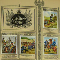 Cigarette Card Album German Imperial Army Reichsheer w/328 tobacco Uniforms Book