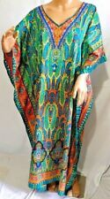84be966670c318 Jessica Taylor Women Plus One Free Size Tunic Caftan Dress Cover Up Paisley  10