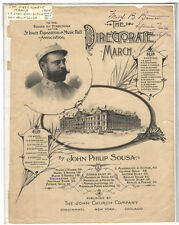 Rare Antique Original VTG 1904 Directorate March Piano Sheet Music Cover Only