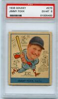 1938 Goudey Baseball Card #273 Jimmy Foxx PSA EX-MT 6
