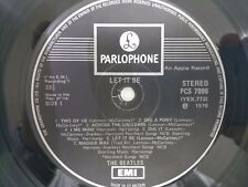 The Beatles LET IT BE LP PARLOPHONE EXPORT EX+ One EMI Box UK HOLY GRAIL