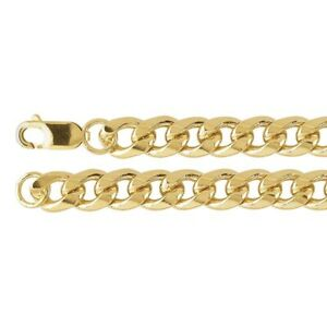 """Curb Chain Necklace 14/20 Yellow Gold-Filled 8mm Beveled 20"""" or 24"""""""