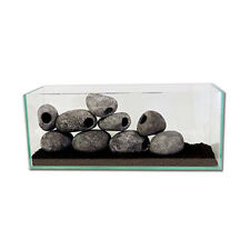 Aquarium Rock Cave S Ceramic Stone Ornament Decor Cichild Fish Tank