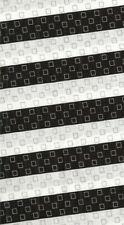 Black white sports life 2 stripe Kaufman fabric