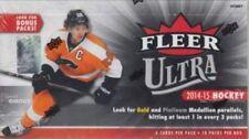 3 BOX LOT : 2014-15 Upper Deck Fleer Ultra Hockey Factory Sealed Hobby Boxes